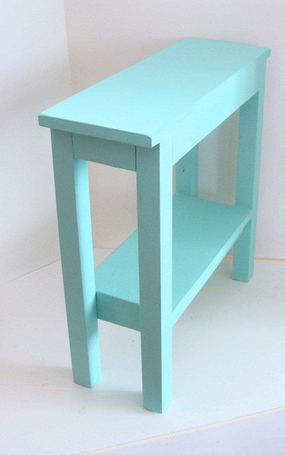 end table narrow side chairside tables wood etsy fullxfull aqua blue accent oval dining cover small round cherry patio bistro set white chair outside knotty pine art deco lighting