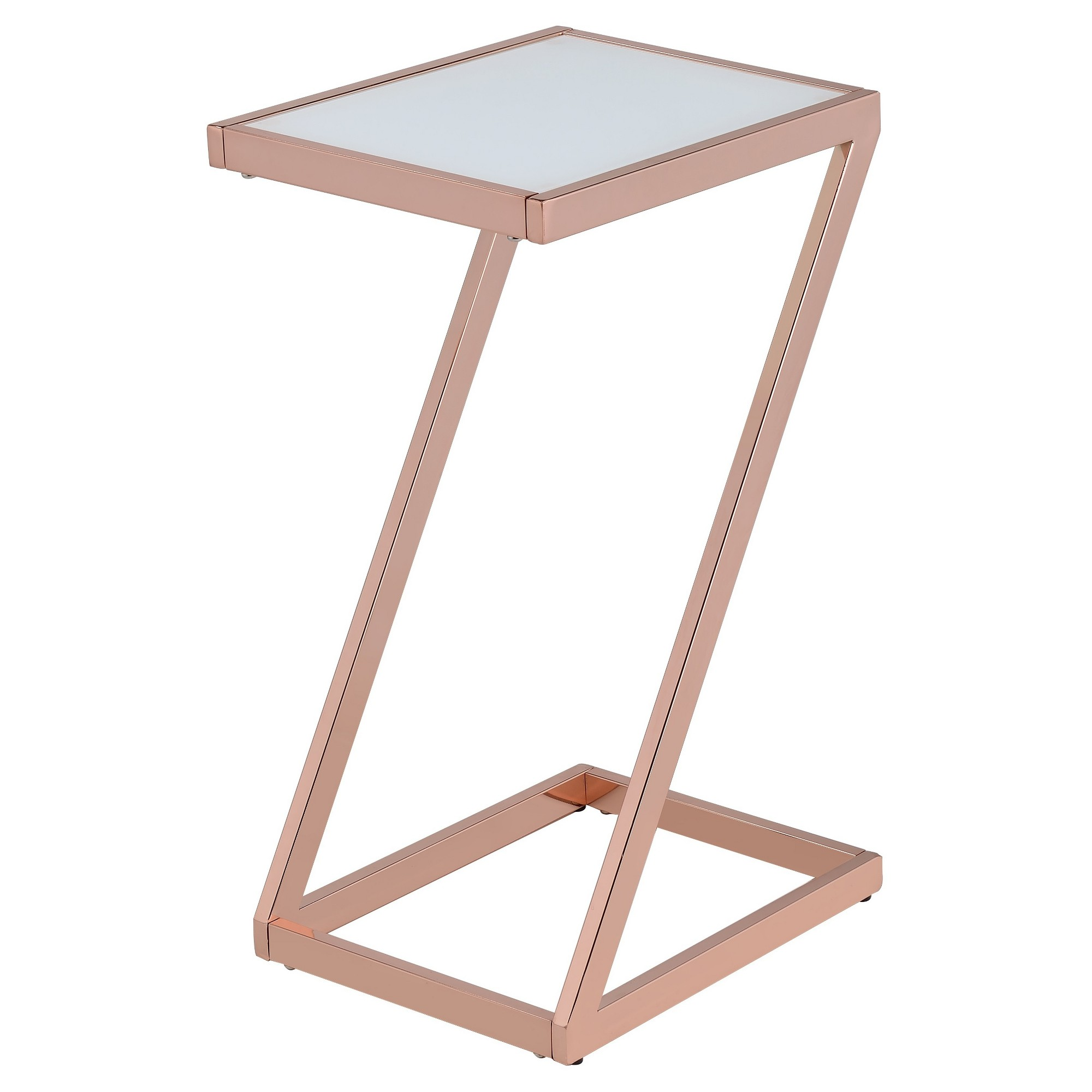 end table rose gold frosted glass frosting accent dale tiffany lamps clearance pool couch covers kmart chairs with unusual bedside tables ikea pedestal safavieh contemporary