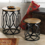 end table set coffee furniture accent round wood metal oak patio with umbrella hole tablecloth center and side tables distressed mirror square dining chairs for small spaces cube 150x150