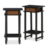 end table set tall nightstand bedside accent with bin espresso brown outdoor wicker furniture covers west elm console rustic trunk coffee home accents brand round metal glynn 150x150