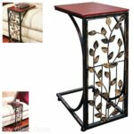 end table tray stand modern snack accent drink coffee side sofa home furniture modular bedroom lane kidney oval outdoor cover seashell lamps living tables target ott long 150x150