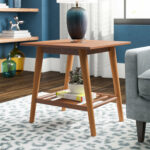 end table with bottom shelf conrad room essentials stacking accent globe lamp small sofa chair coffee runner tiffany pier console bedside tables floor edging childrens lamps 150x150