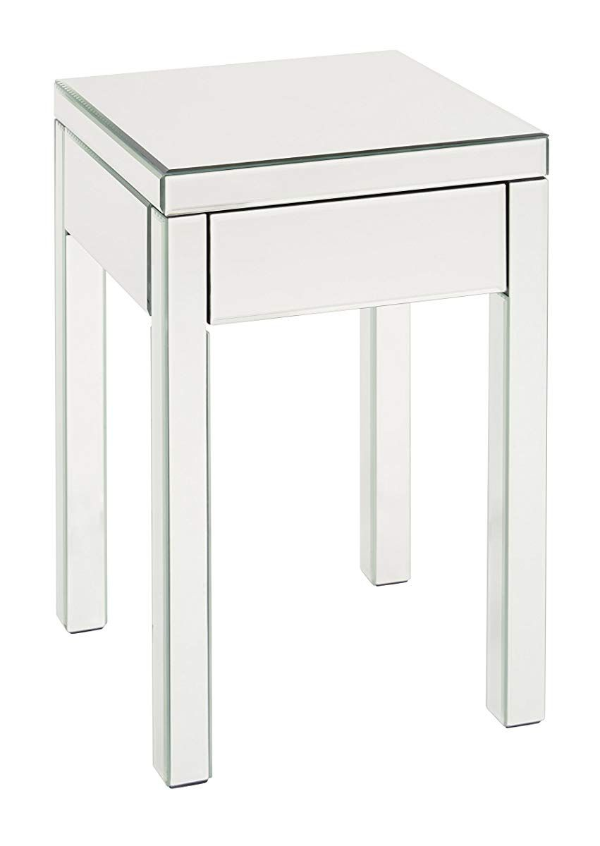 end table with drawer silver mirrored finish side mirror accent unusual tables for living room bunnings outdoor lounge settings beautiful coffee old kitchen windham one door