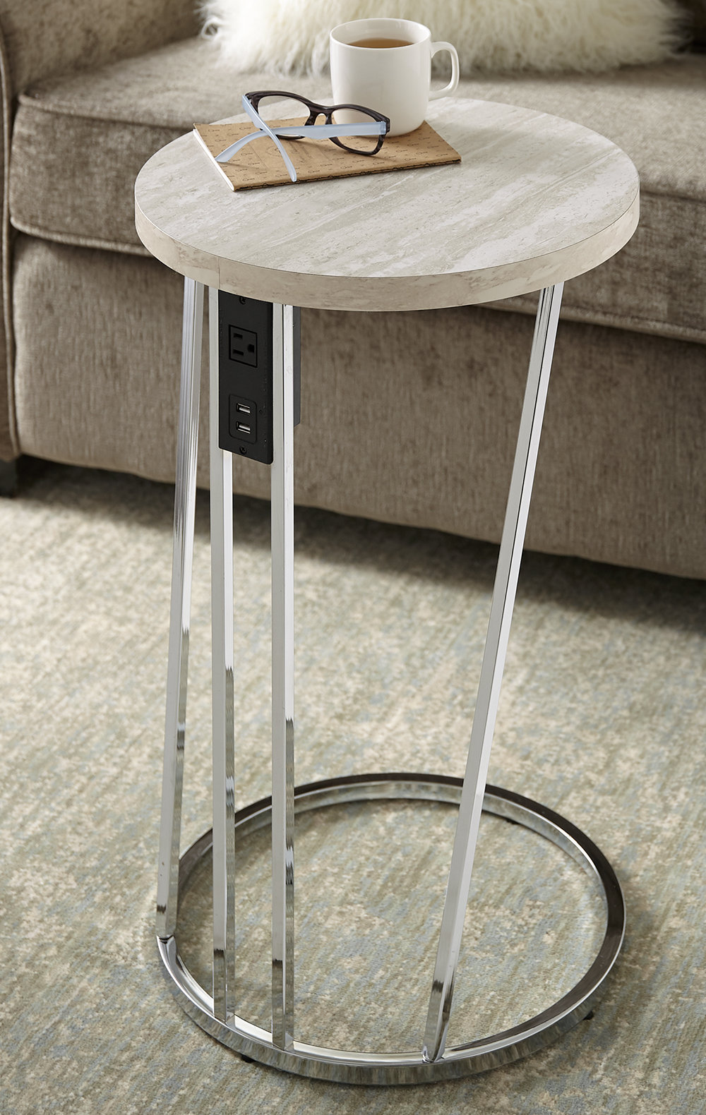 end table with stone top quarry accent quickview garden high legs front door threshold small hairpin battery powered decorative lights unusual living room ornaments three piece
