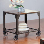 end table with wheels hobart accent interior home decoration stump side clear acrylic trunk coffee small white entry circle wood furniture elm console ashley set pier one throw 150x150
