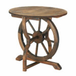 end table with wheels wagon wheel accent side light ashley furniture set target windham collection trestle outdoor dining cover entry pier one throw pillows small white high lamps 150x150