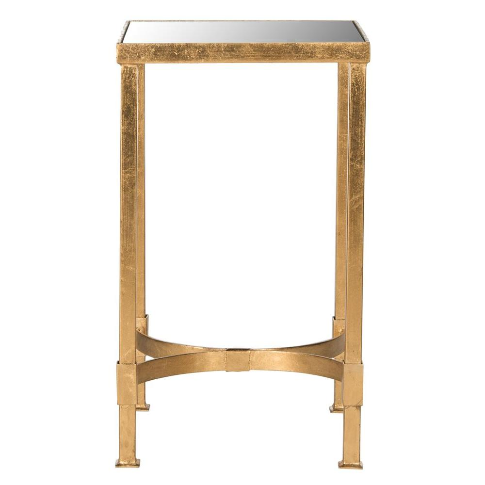 end tables accent the antique gold safavieh live wood table halyn leaf black and white chair french bedside small oak round concrete homemade runners west elm chairs cherry