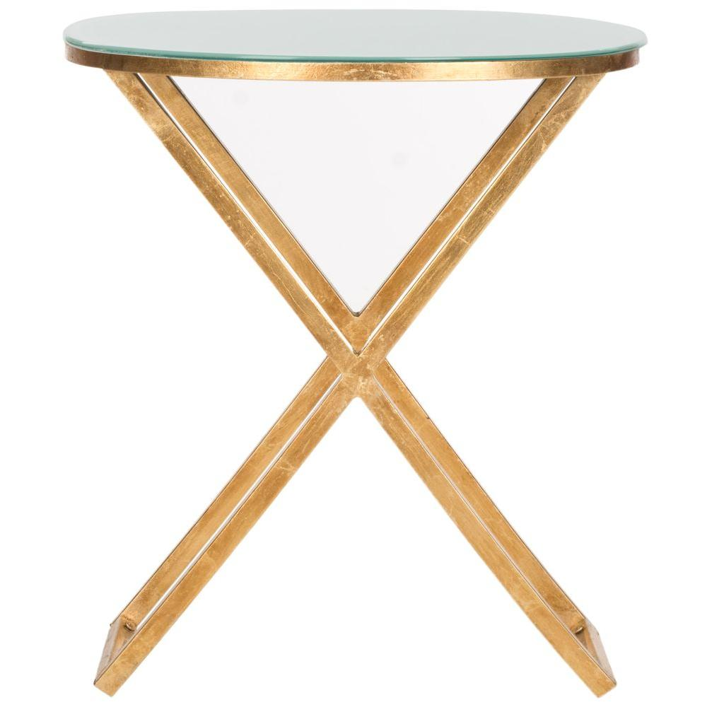 end tables accent the gold white safavieh eryn table riona and glass top parsons side nautical desk lamp bar inch round christmas tablecloth set coffee upholstered chairs pottery