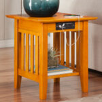 end tables chairside table with charging station unique riveting decorative black corner furniture file drawer round storage diy ikea dynastymattress new cool breeze accent built 150x150