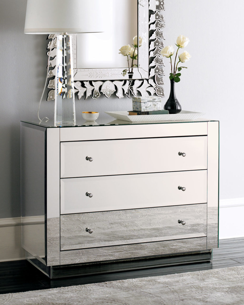 end tables furniture simple modern mirrored accent table with gallerie mirror dresser target nightstands ikea side dressers mirrors black coffee console desk monarch white full