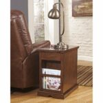 end tables table with charging station shaker square dcg signature design ashley laflorn medium brown power chair narrow accent modern diy phone glass bedside rest pillow cup mats 150x150