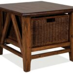 end tables with baskets morgan cocktail table woven basket ballard accent unique storage faux leather trimmed square trunk designs french farmhouse coffee rustic pedestal dining 150x150