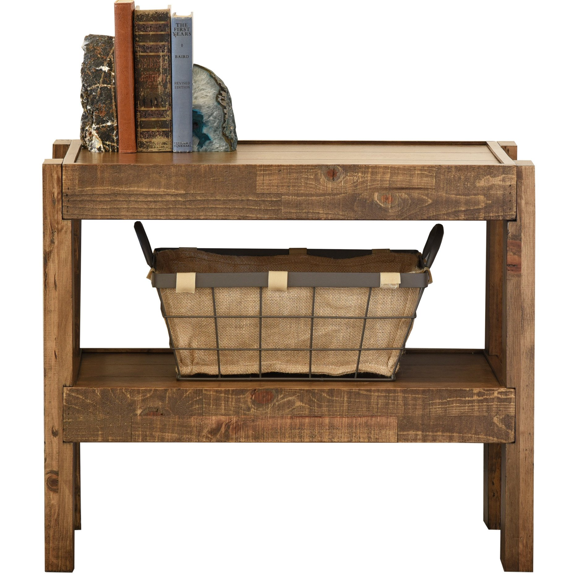 end tables woodwaves reclaimed whitenight stand rustic nautical nightstand presearth farmhouse accent table pallet wood style pottery barn pine lounge chairs inch trestle garden