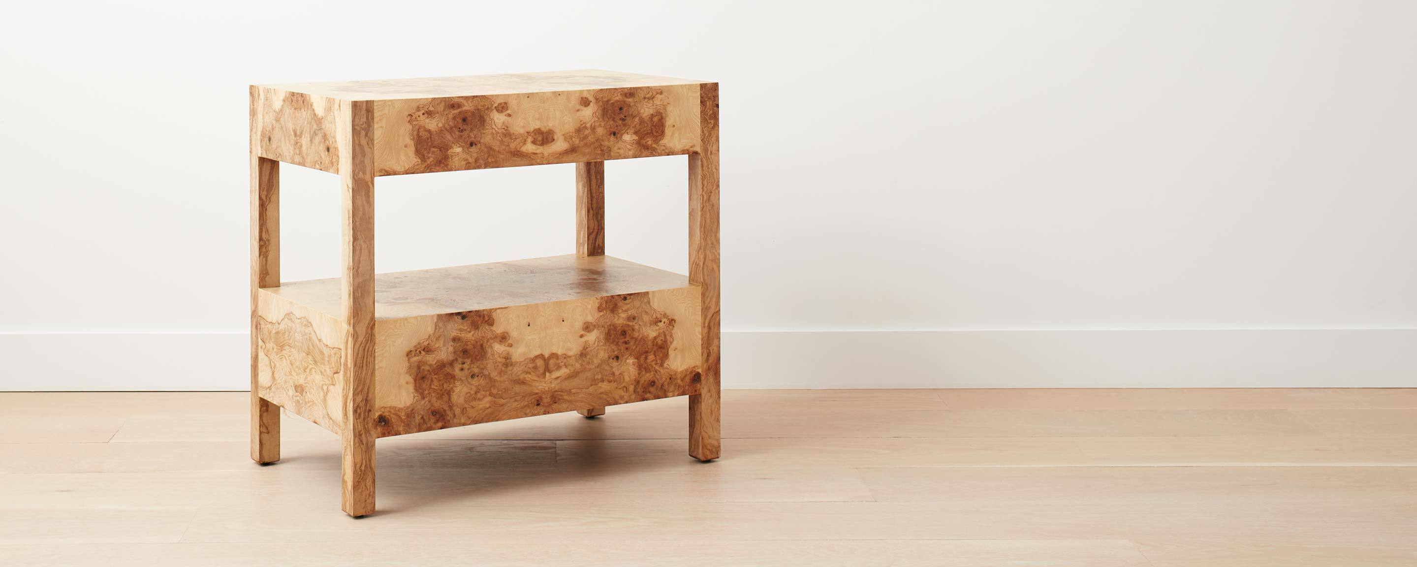 end vice the perfect real burl wood table ideas super olive ash wide nightstand homenature black living room set leons dining mirrored bar cabinet half moon side with locking