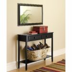 endearing hall console table and mirror set bedroom decoration best foyer with shoe storage view hallway accent black steel legs side wheels big round coffee small white half moon 150x150