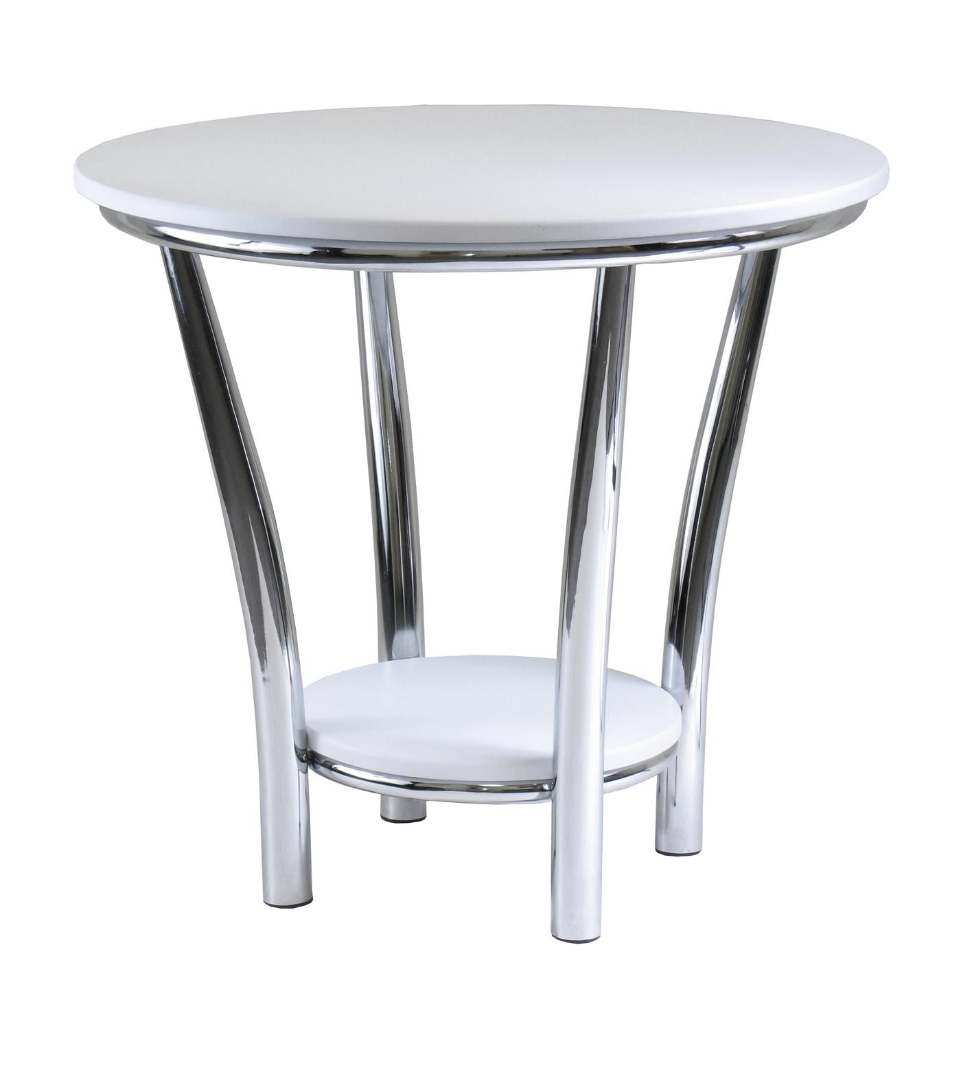 endearing white round end table chrome metal base wod top and shelf one bottom safavieh janika accent off full size tables rustic reclaimed wood clearance wicker outdoor furniture
