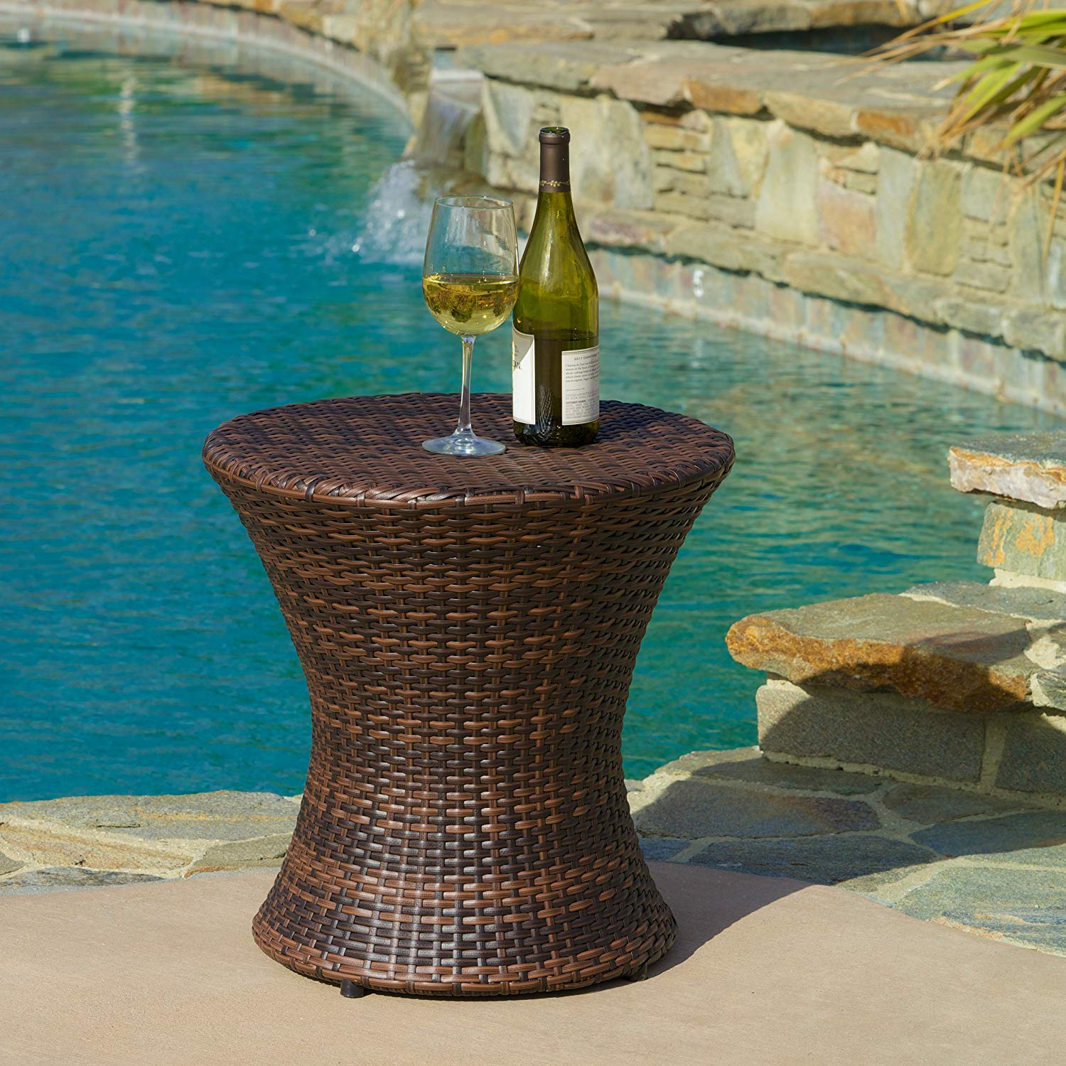 enjoyable ideas outdoor accent table just another wordpress site super cool lorenzo grey wicker garden tables clearance with storage zaltana mosaic rattan side glass top white
