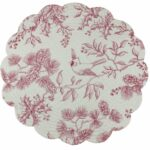 enterprises reversible quilted placemat round table accent evergreen toile home kitchen ethan allen leather furniture gold and glass metal folding wrought iron end tables with 150x150