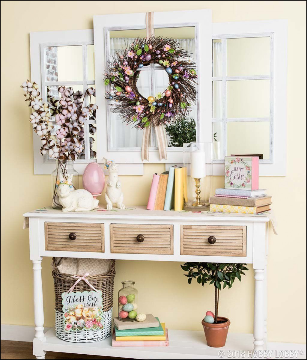 entryway accent table impressive beautiful easter easily achieved with pops pastels hobby lobby tables tiffany style lamp shades alexa smart home devices monarch furniture small