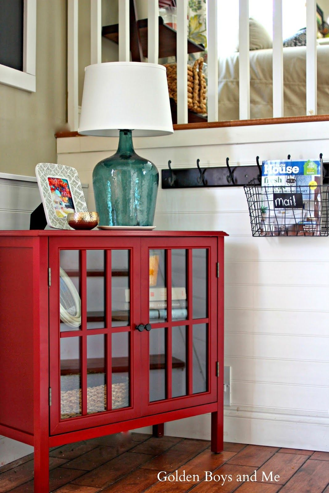 entryway makeover diy projects home and room threshold windham accent table affordable using target red cabinet goldenboysandme blanket box ikea round decorator tablecloths