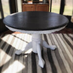 entryway silver table ideas for vintage wooden accent rustic farmhouse decor white coffee with shelf cement top outdoor wood side wireless bedside lamp drum bench glass mirror 150x150