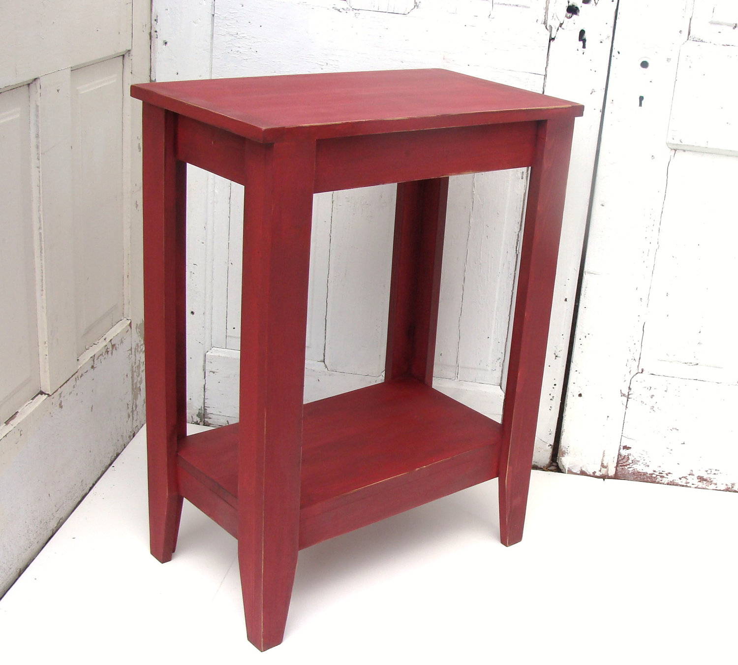 entryway table side console rustic painted accent red ideas drawer chest grill griddle glass kitchen teak garden furniture set dining distressed metal replacement legs large cream
