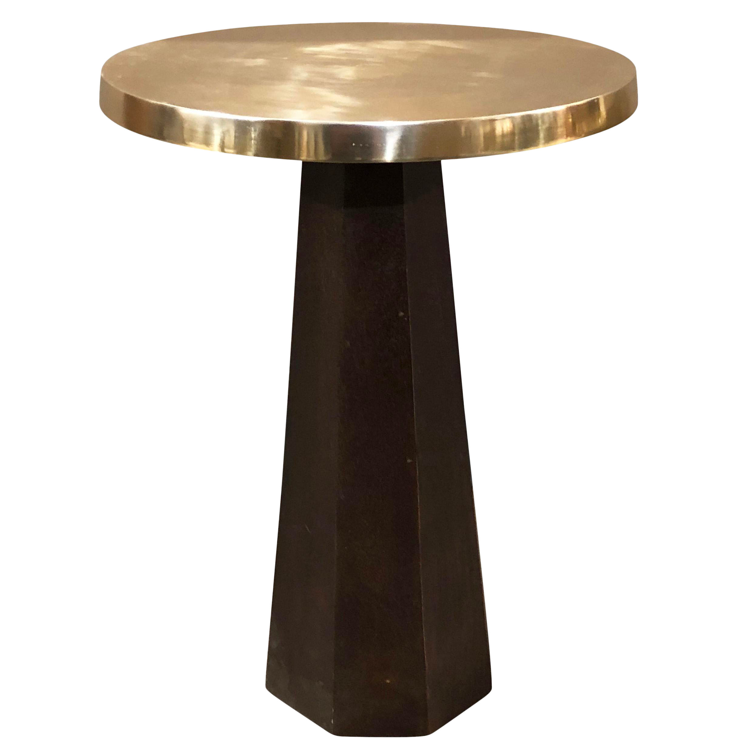 erdos home amy gold metal top accent table chairish pedestal black cube end modern round dining shaker adjustable furniture feet nesting tables wood target nest hairpin legs