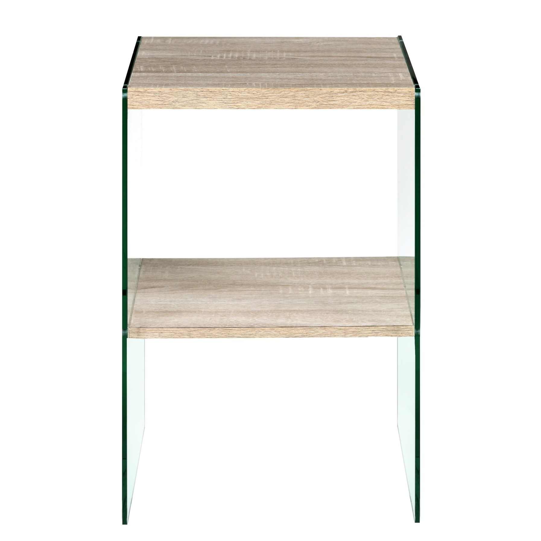 escher skye accent end table clear glass and wood light oak tables free shipping today patio furniture cushions clearance metal side with top ikea storage units black gold beach