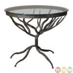 esher tree design metal base glass top accent table wrought end bases wood used drum stool corner side ikea kenroy home white contemporary coffee wooden garden brown living room 150x150