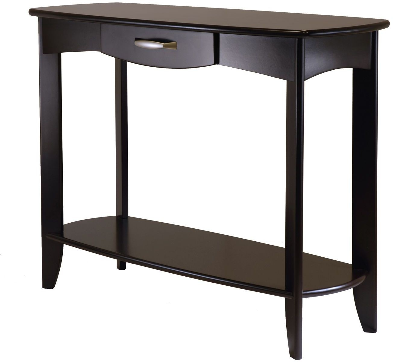 espresso console table long danica dark from winsomewood threshold owings accent metal end tablecloth pier cushions patio side with umbrella hole glass tables toronto small