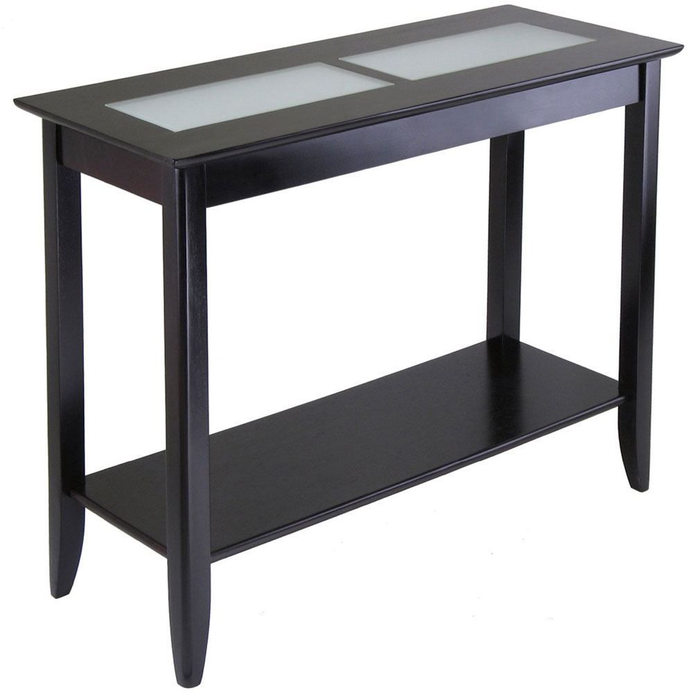espresso console table long syrah accent tables threshold owings silver wall clock acrylic side ikea gold drum farmhouse dining and chairs triangular end wood extra glass toronto