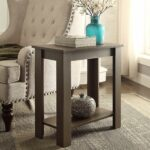 espresso finish tier chair side end table with shelf accent phone kitchen dining ashley furniture and half glass timber outdoor setting bunnings diy barndoor aluminum patio black 150x150
