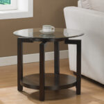 espresso round end tables home design ideas table glass top accent perfectly small mirror white occasional garden furniture with umbrella monarch specialties modern night lamp 150x150