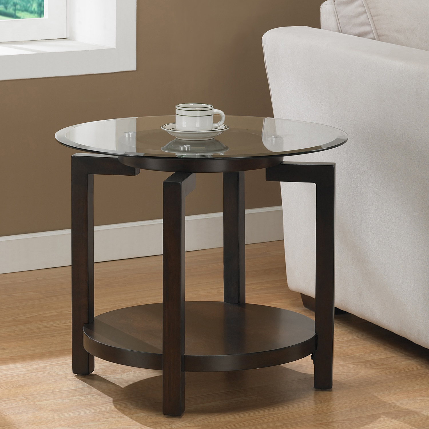 espresso round end tables home design ideas table glass top tipton accent perfectly pedestal pier one shower curtains tall narrow coffee drinking sets aluminum umbrella small apt