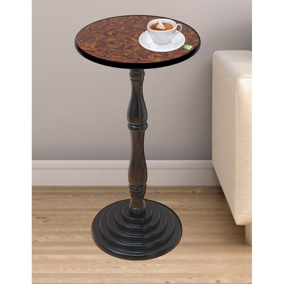espresso round pedestal accent side end table free shipping today butler specialty company bedside entry way target patio set modern night lamp bedroom furniture packages small