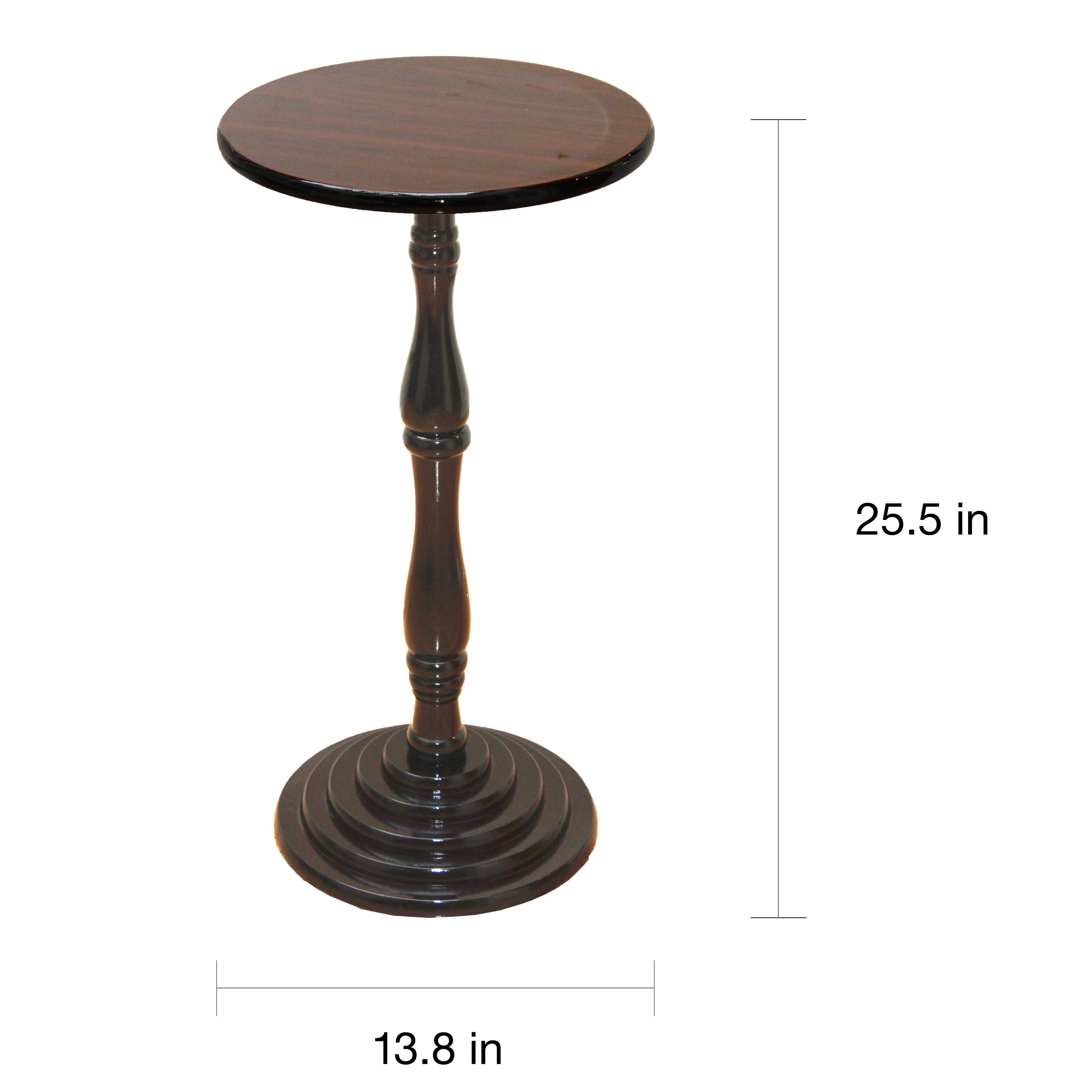 espresso round pedestal accent side end table free shipping wood console chair cherry lamp square wall clock kitchen dining room collections modern design sofa brown tiny lamps