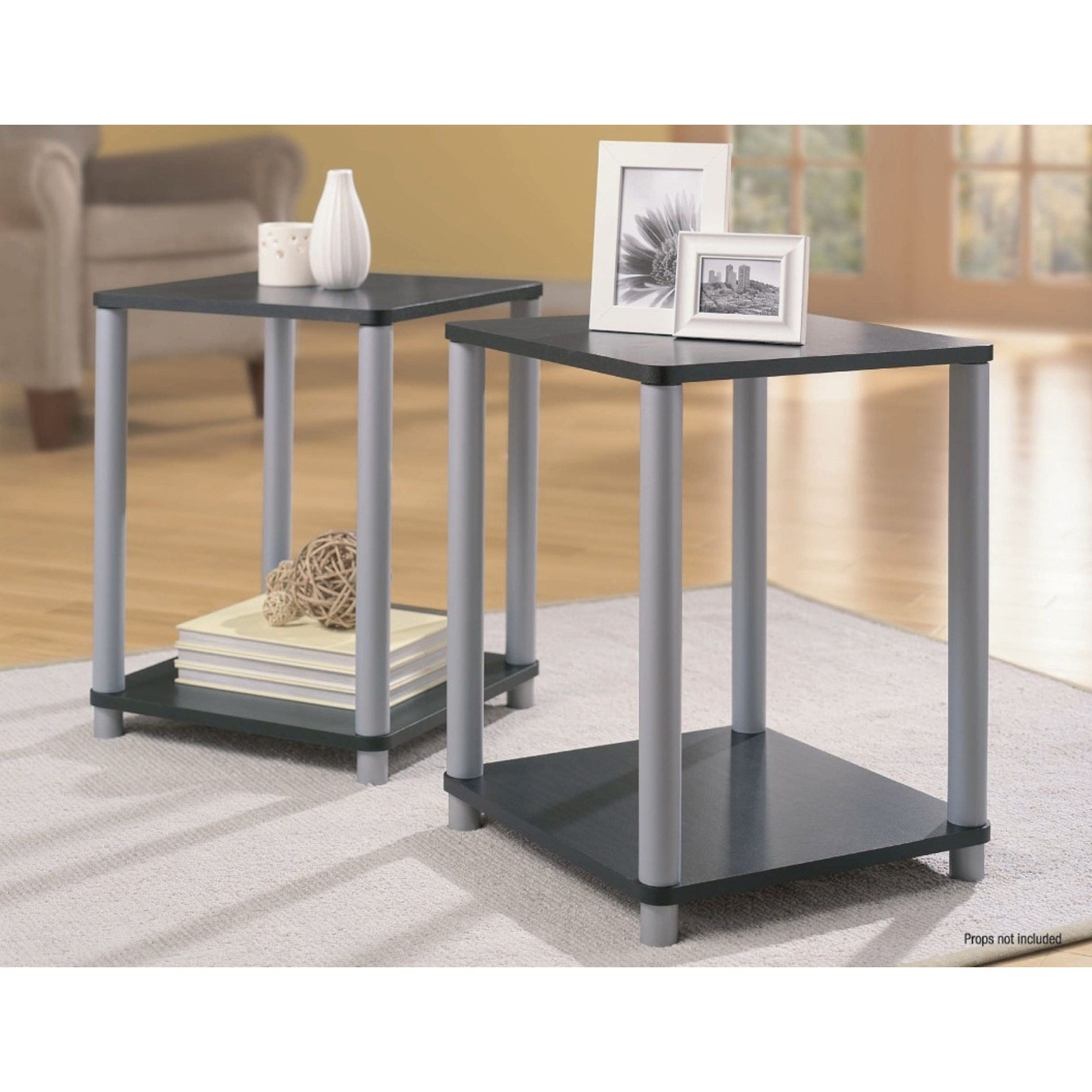 essential home end tables black and silver table set spin prod room essentials white accent farm dining barn door kitchen cabinets round quilted topper patterns long cabinet