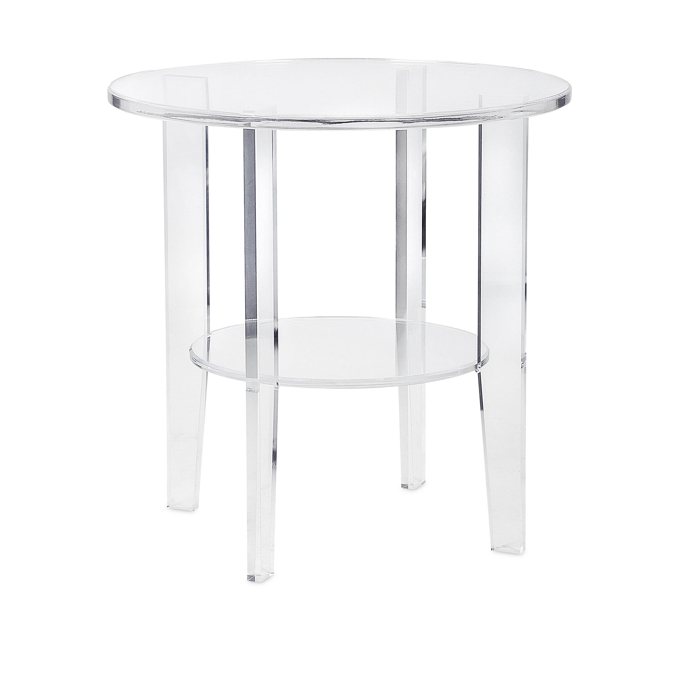 estelle clear frosted acrylic accent table free shipping black today ocean themed lamp shades bar height set covers pottery barn desk wine cube mirror nightstand decorative tables