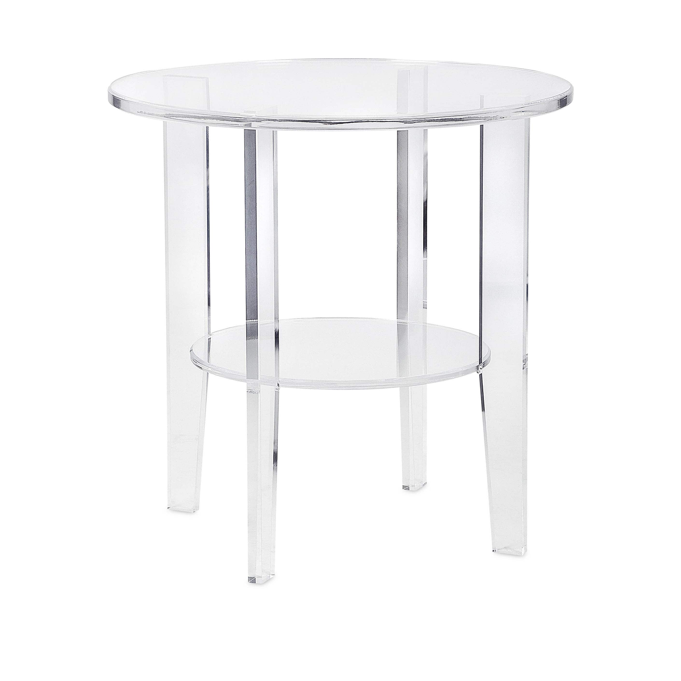 estelle clear frosted acrylic accent table free shipping today storage furniture for small spaces outdoor umbrella and stand dark wood nightstands semi circle side wedding covers