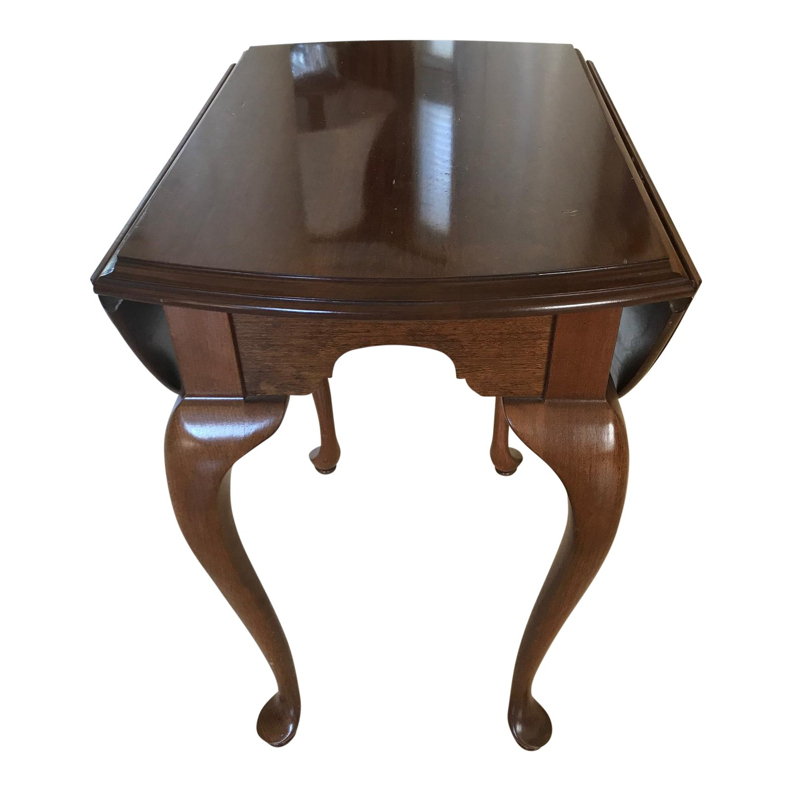 ethan allen drop leaf solid cherry wood accent table chairish small corner pier one frames target patio coffee pool covers bunnings large round wall clock ikea slim storage mini