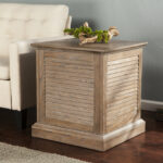 ethan allen pineapple chairs the super nailhead trunk end beachcrest home adreanna louvered table reviews round wood coffee ikea mid century modern chair legs wooden bedside 150x150