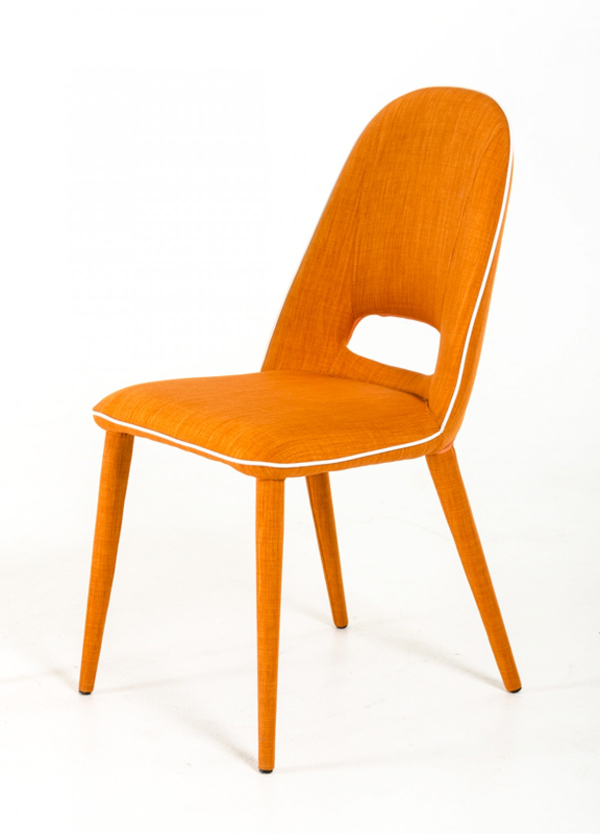 eugene modern orange fabric dining chair set timeless dsc accent table walnut nautical pole lamps armless small nest tables battery powered living room kitchen wine rack led