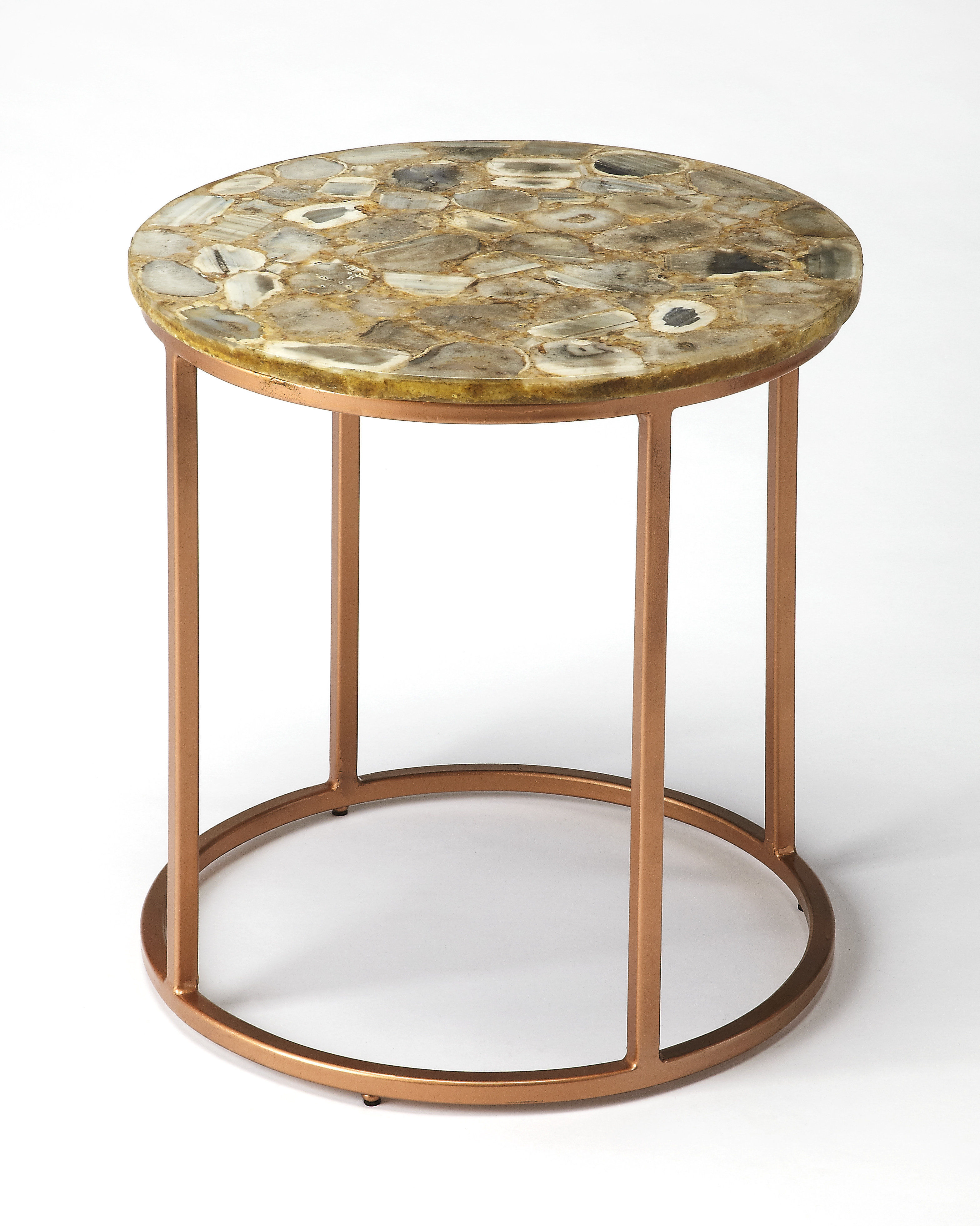 everly quinn aliya agate end table glass accent bedding storage inch high tables gold decorative accessories patterned rug wardrobe furniture dale tiffany crystal globe lamp metal