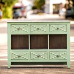 excellent green accent table space land park home design kendall console this creamy piece has six drawers for storage and salt marsh finish full view small outdoor bench 150x150