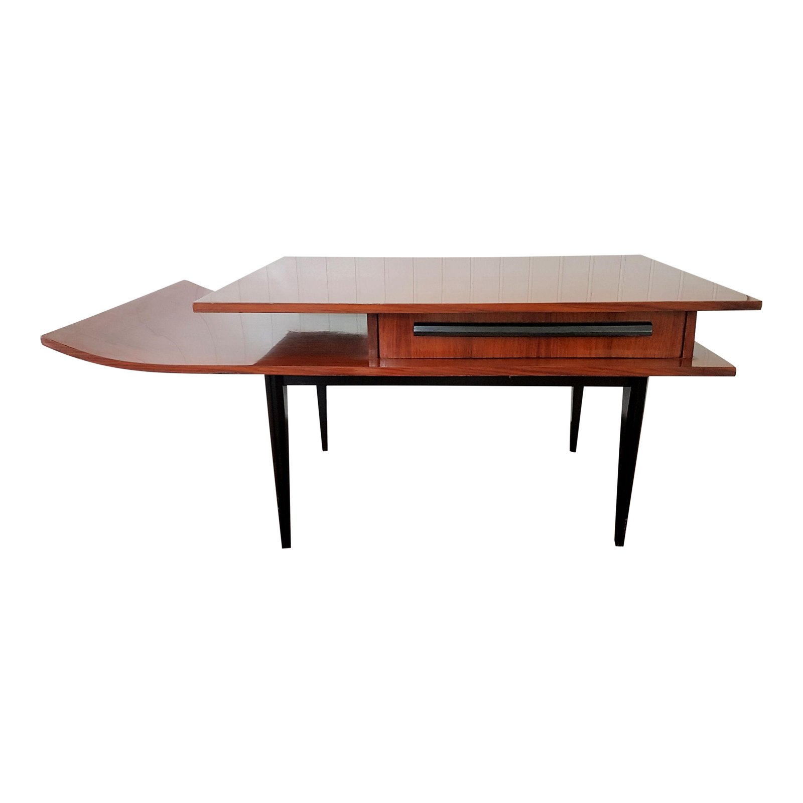excellent rosewood italian mid century modern side table pagoda shape accent ikea dining room furniture tall bistro and chairs inch round tablecloth contemporary lamps for living