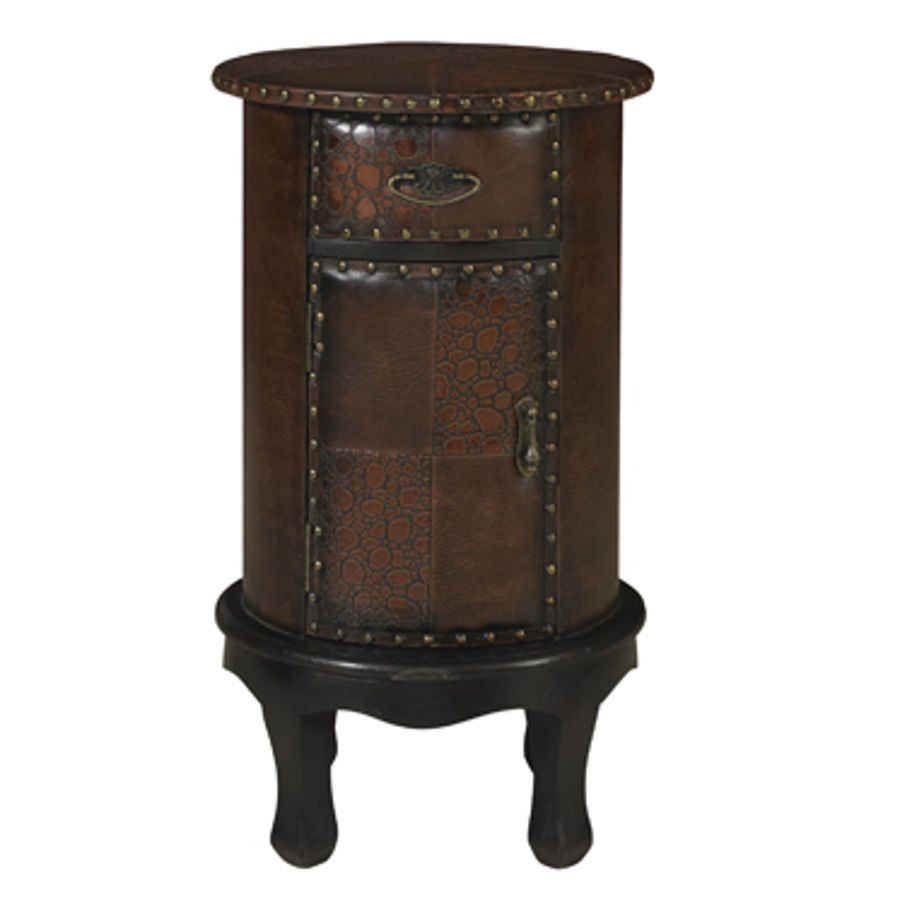 expedition chestnut drawer door round accent table pwl the classy home battery powered desk lamp narrow oak console coastal lamps wide mirror outdoor furniture oversized armchair