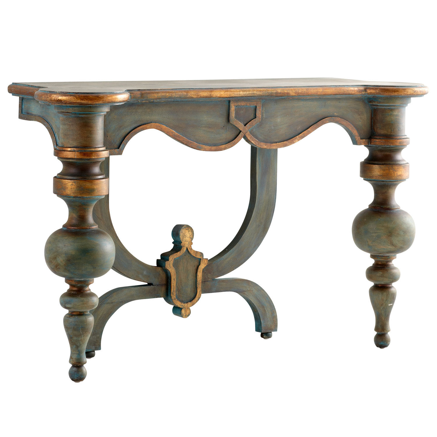 exquisitely designed the lacroix console table creates unexpected baroque accent spirit with inspired style small round antique drawer simple lamp grey metal side iron coffee