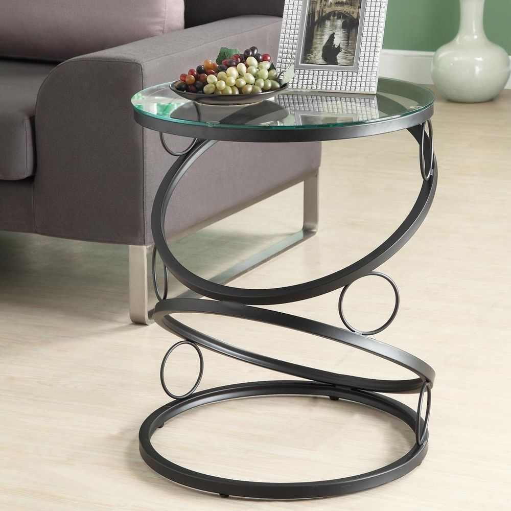 extra small end tables probably super best black metal glass modern round table side accent home furniture living room desk lamp with phone charger ikea dining chairs target