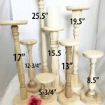 extra tall unfinished wood pillar candlestick holders diy wedding accents table accent plastic adirondack side decorative storage cabinets pier one bench wine rack shelf slim 150x150