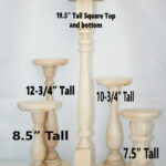 extra tall unfinished wood pillar candlestick holders diy wedding accents table accent pottery barn round chair grey nest tables area rugs sofa with chairs garden dining knobs and 150x150